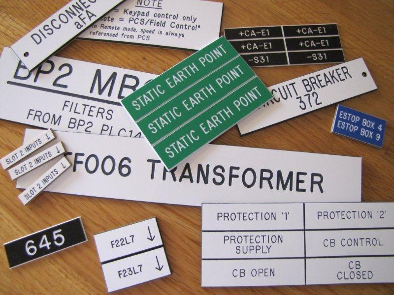 Laberton Pty Ltd Samples Of Engraved Labels Electrical