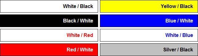 coloured engraved labels